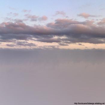 Fonds de ciel avec nuages pour création