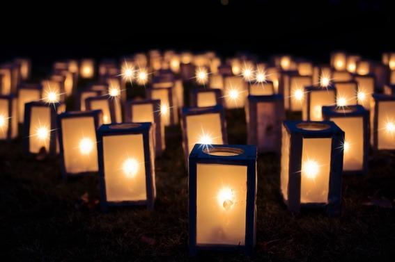 Lumières, Luminaires De Noël, Nuit, Sombre, Décoration