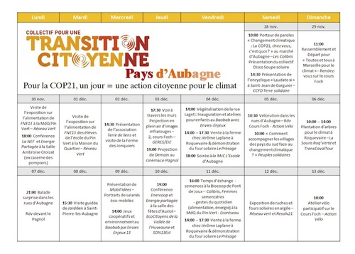 COP21 1 jour = 1 action citoyenne