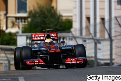 GP Monaco : Course - Hamilton 5°, Button 16°
