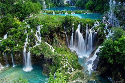 Le parc national des lacs de Plitvice, en Croatie