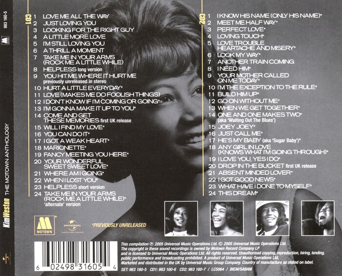 "Kim Weston : CD "" The Motown Anthology "" Motown Records 983 160-5 [ UK ]"