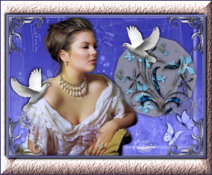 La belle et les colombes