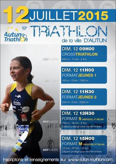 Triathlon d'Autun 12 juillet 2015