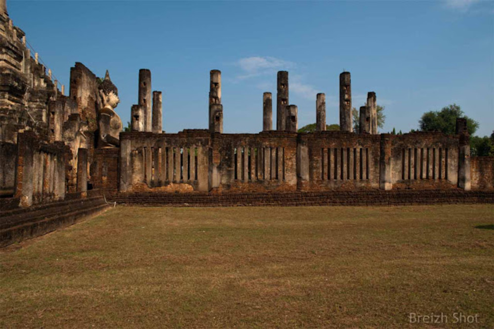 Wat Phra si Rattana Maha That Chaliang - Bouddha les vestiges du viharn