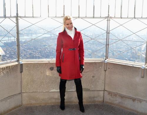 Nicollette Sheridan à l'Empire State Building.