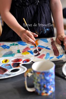 Peinture inspiration Gaudi #Voyageons ludique