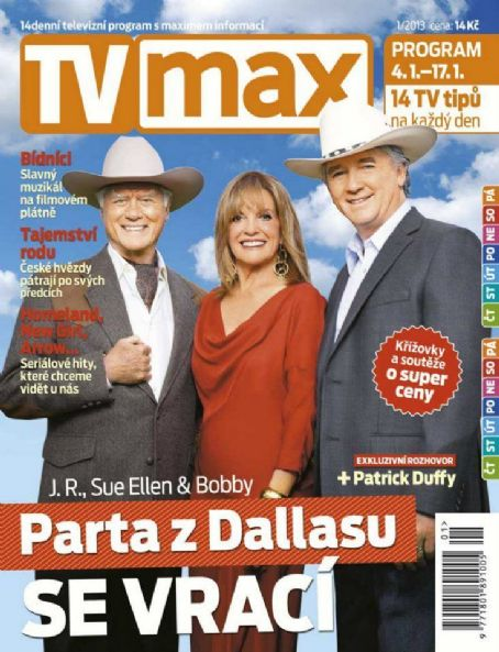 Charlene Tilton,Patrick Duffy et Larry Hagman(les cross-over Dallas-Knots Landing)