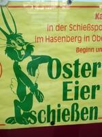Plakat des Schützenvereins für Ostern