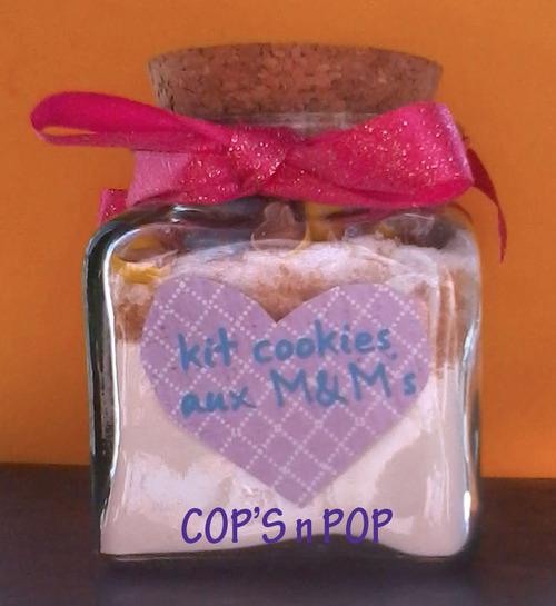 Cadeau gourmand à offir: Kit cookies aux M&M's