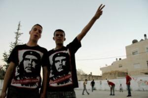 Palestinians wearing Che Guevara tshirts
