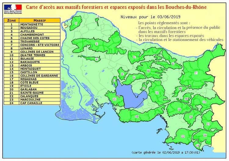 Juin 2019, la réglementation d'accès en forêt entre en vigueur pour le dpt 13.