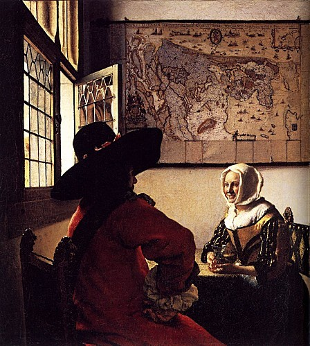Vermeer 1657 Officer-with-a-Laughing-Girl