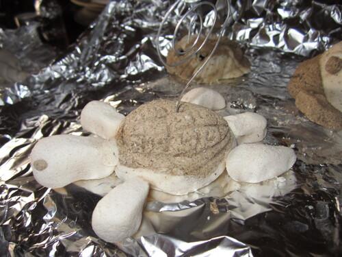 Pâte à sel - thème fond marin- tortue porte-photo
