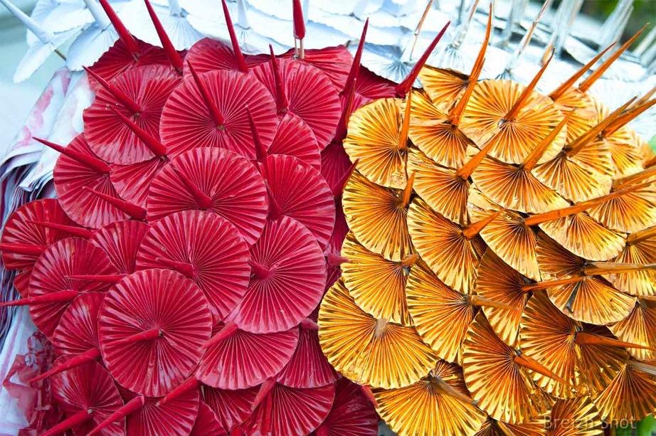ombrelles bouddhistes - Shwedagon