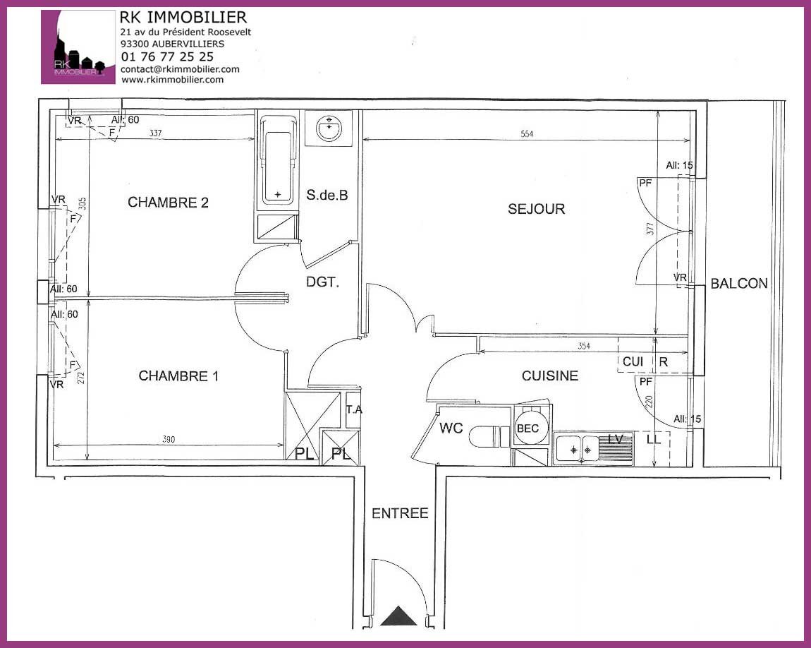 plan appartement f3
