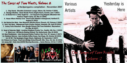 Cover me # 51 : Yesterday is here Volume 2 (Tom Waits covers) - Various Artists