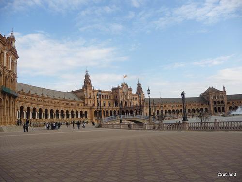 Le bâtiment principal de l'Exposition Ibéro-américaine de 1929,  place d'Espagne, Séville