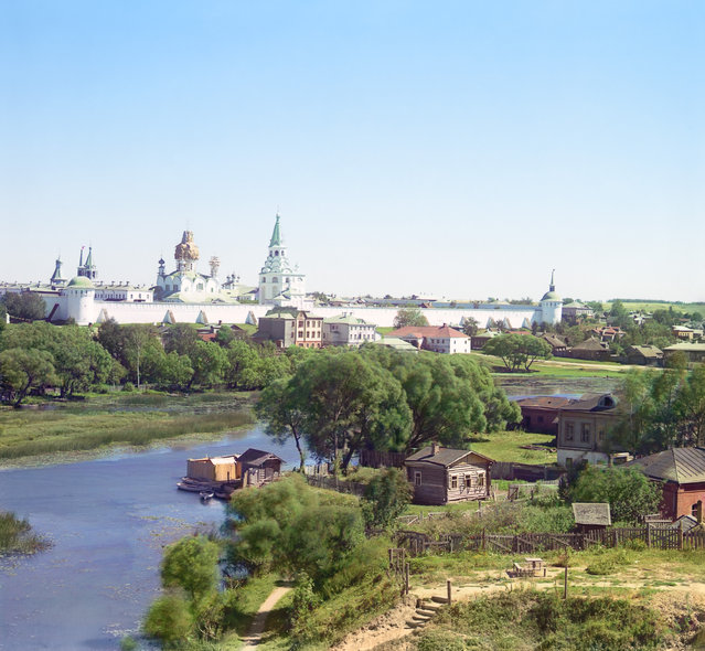 Photos by Sergey Prokudin-Gorsky. City of Aleksandrov. General view of Trinity Monastery. Russia, Vladimir Province, Alexander County, Alexandrov, 1911