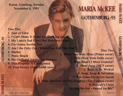 Place aux Femmes! Maria Mc Kee - Gothenburg 93