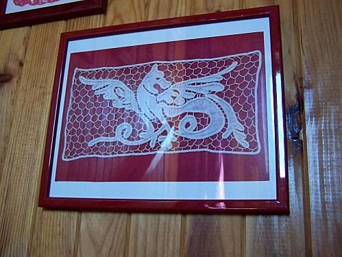 dentelle dragon encadre