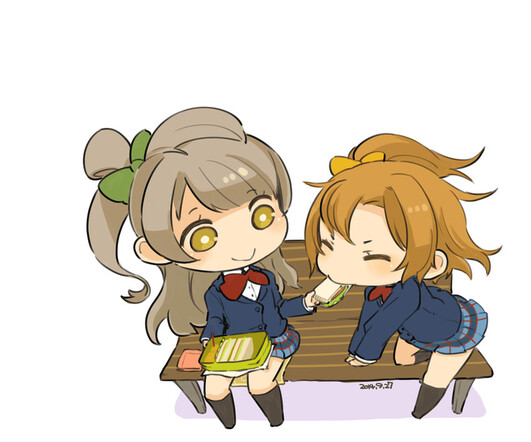 kousaka honoka and minami kotori (love live! and love live! school idol project) drawn by mota