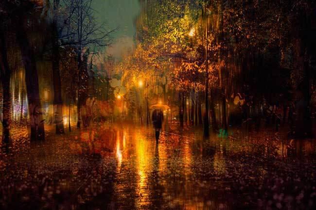 eduard gordeev photographies urbaines peinture style 4 - Ces Photos Urbaines sous la Pluie Ressemblent à des Peintures