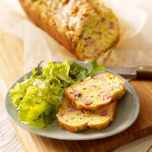 Recette de Cuisine : Cake au maïs et au jambon