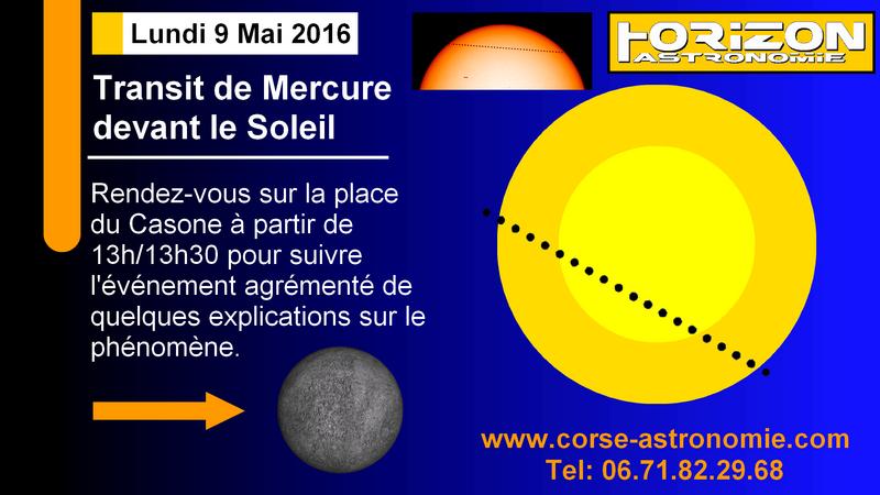 TRANSIT DE MERCURE - LUNDI 9 MAI 2016