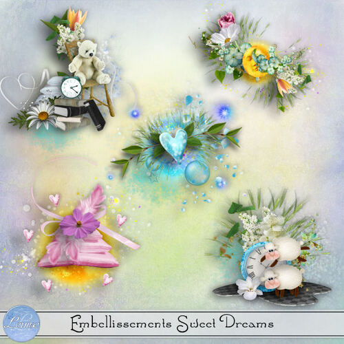 Sweet Dreams Clusters et Embellissements