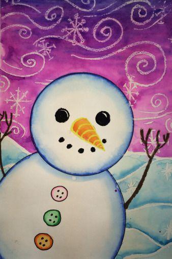 Bonhomme de neige pastel (idée pinterest)
