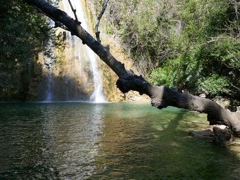 Le gour au pied de la cascade