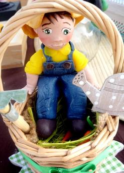 Petit jardinier et sa recolte