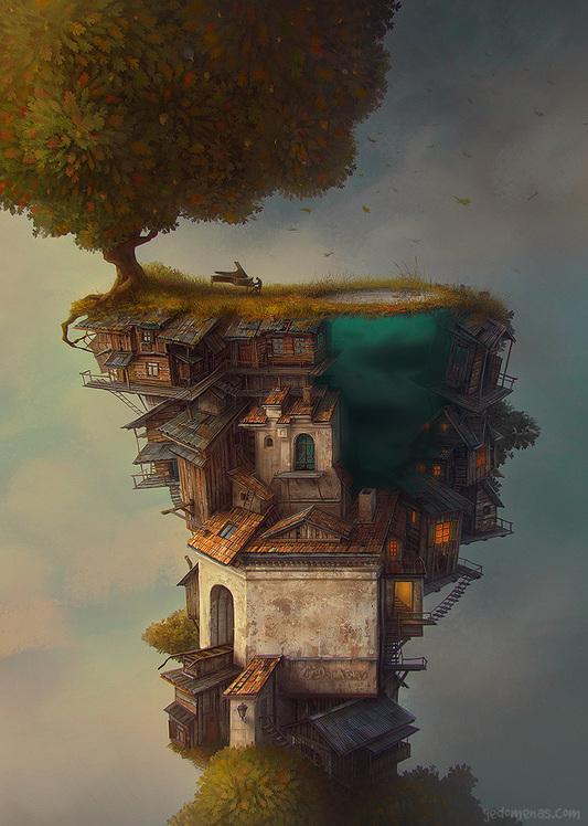 des paysages surréalistes