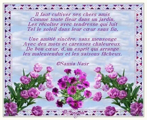 Poeme Amitie Carte Fleurie Amitie Passion Des Fleurs