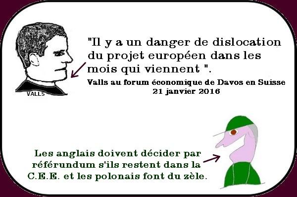 Sarkozy et la France, Valls et l'Europe, le travail c'est la santé, etc.. ou les infos du Vendredi.