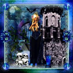 Halloween bleu Ephéméride code inclu