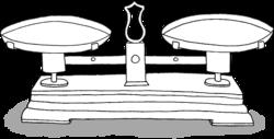 Dessin - Balance Roberval