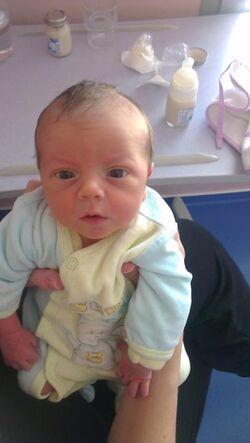 notre doudou Alexis est né