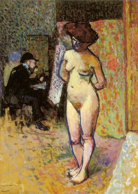 Matisse peignant chez Manguin