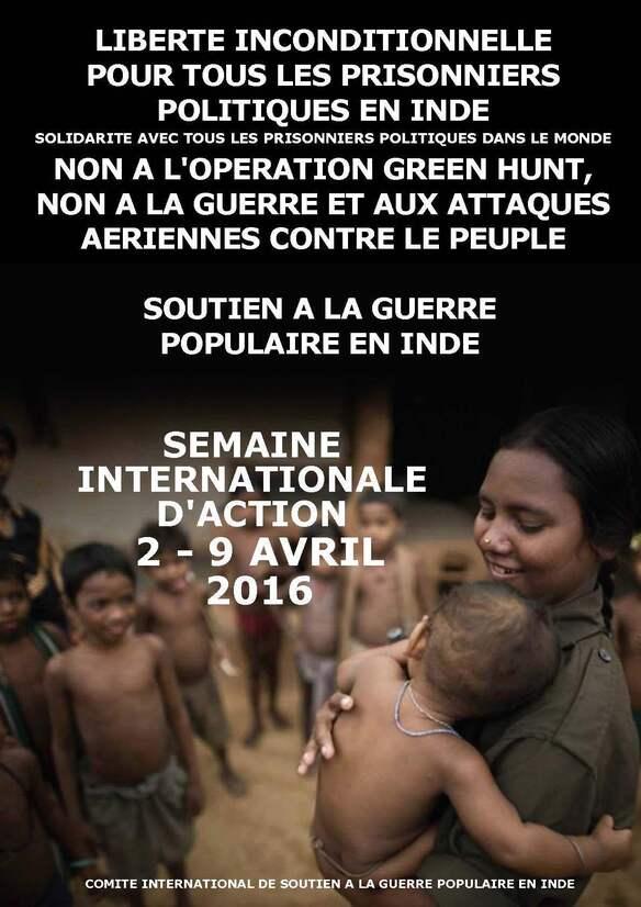 - Guerre populaire en Inde : Appel pour la semaine internationale d'action du 2 au 9 avril 2016