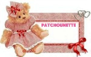 Patchounette ourson vichy rouge