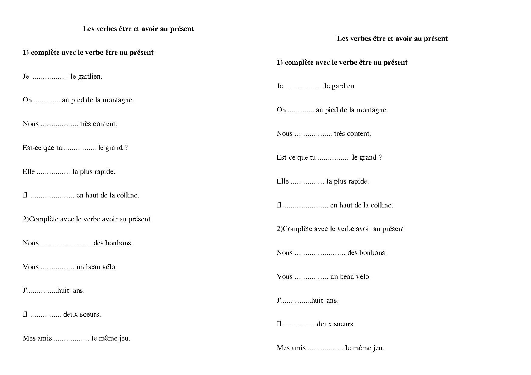 Conjugaisonce1 Ce2 Traces Ecrites Exercices Conjugaison Au Present Affiches