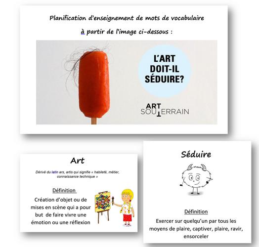 Vocabulaire : art et séduire