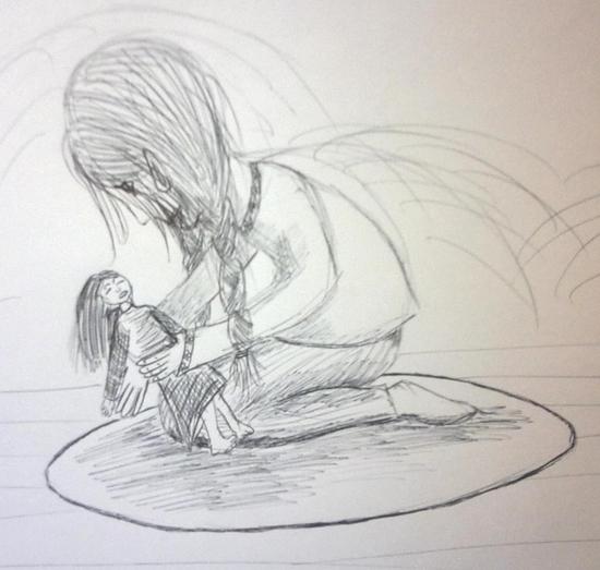 petite fille et poupée
