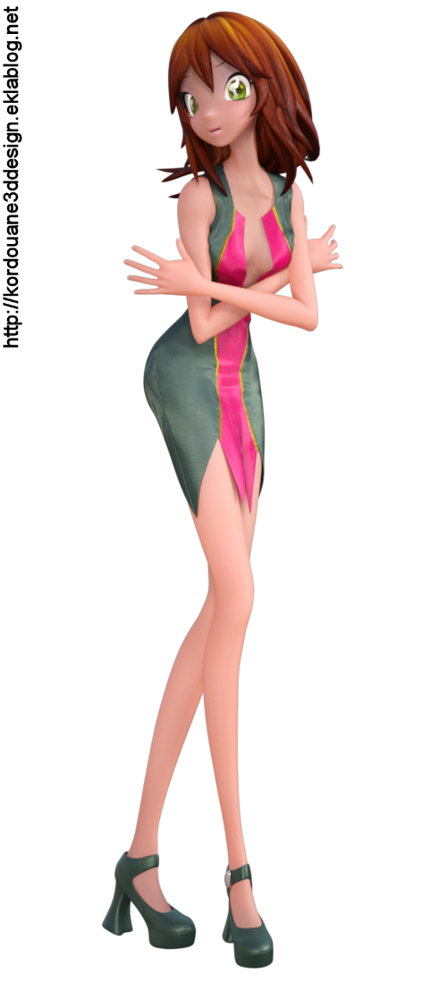 "Tube ""Star"" personnage Toon (render-image)"