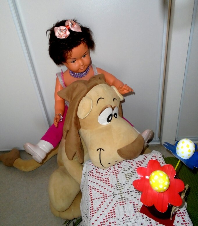 Martine et Big lion