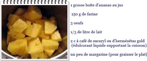Flan aux ananas