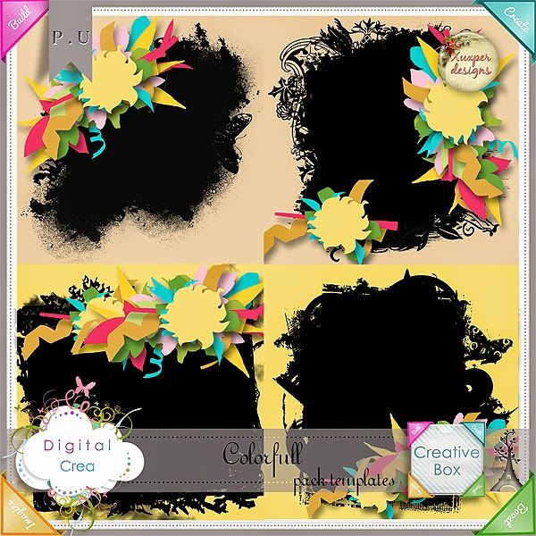 """""""Colorful"""" kit & templates by Xuxper Designs"""