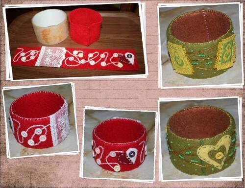bracelets polaire & feutrine